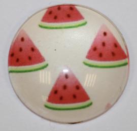 Glas cabochon meloen partjes 16mm, per stuk