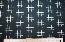 Tricot:  Hashtag by jolijou (Swafing) 43x160 cm coupon