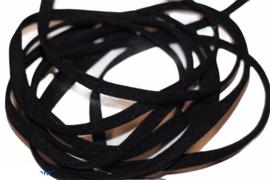 Mondkapje elastiek zacht plat zwart 5mm, per meter