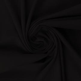 Tricot: effen zwart (Swafing kleur 299) per 25cm
