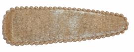 Kniphoesje fluweel beige 8 cm, per stuk