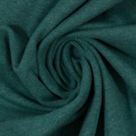 Boordstof: melange groen (Swafing kleur 1563) 48 cm rondgebreid, per 25 cm