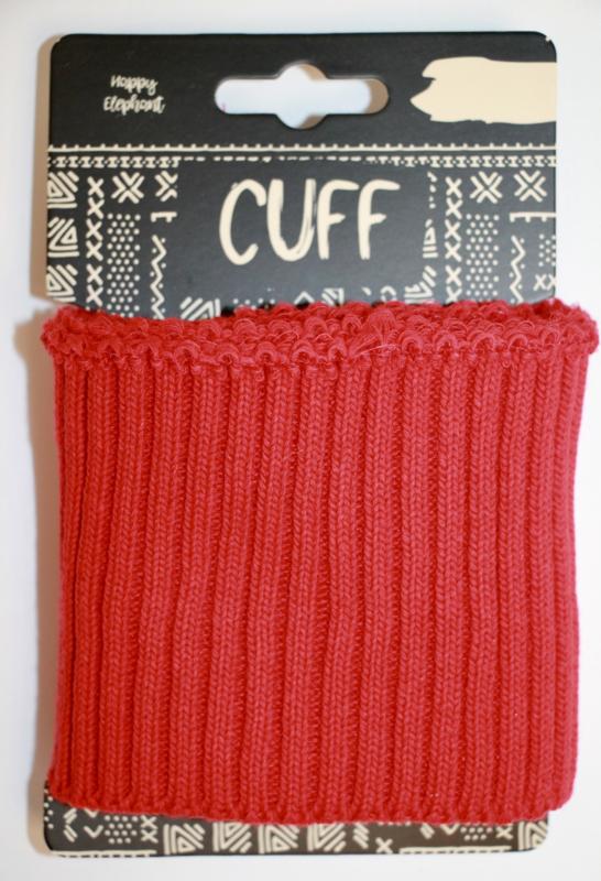 Cuff uni rib rood 7x110 cm
