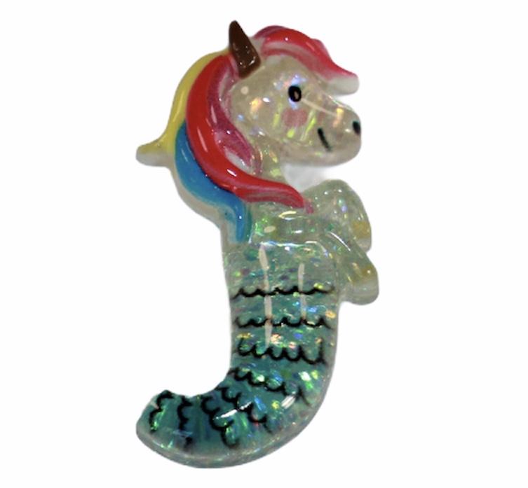Flatback unicorn-zeemeermin 15xx30mm
