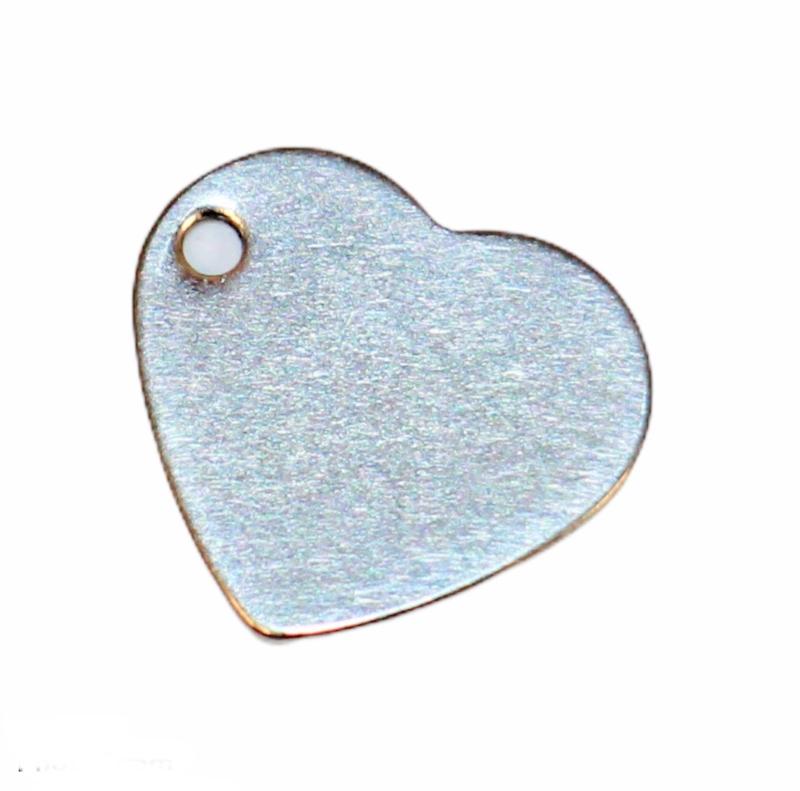RVS bedeltje hart 11 mm, per stuk