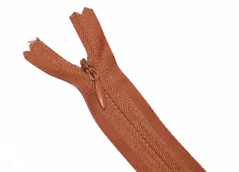 Blinde rits 35 cm roestbruin