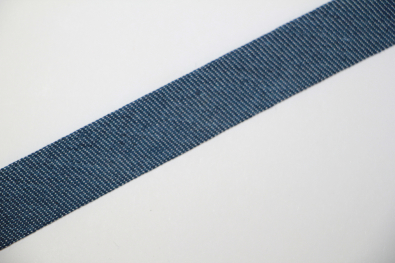 Biaisband jeans 20mm, per meter