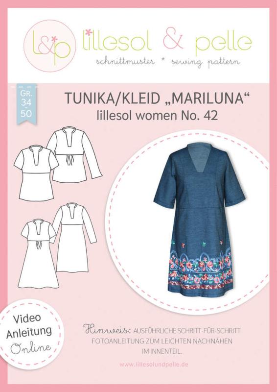 """Lillesol & Pelle women Tuniek/Jurk  """"MARILUNA"""" maat 34 t/m 50"""