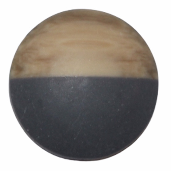 Cabochon hout-look antraciet, 20 mm
