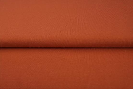 Roestbruine boordstof. Rondgebreid 35 cm. Per 25 cm