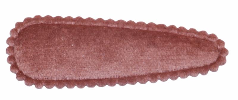 kniphoesje fluweel donker oudroze 5 cm