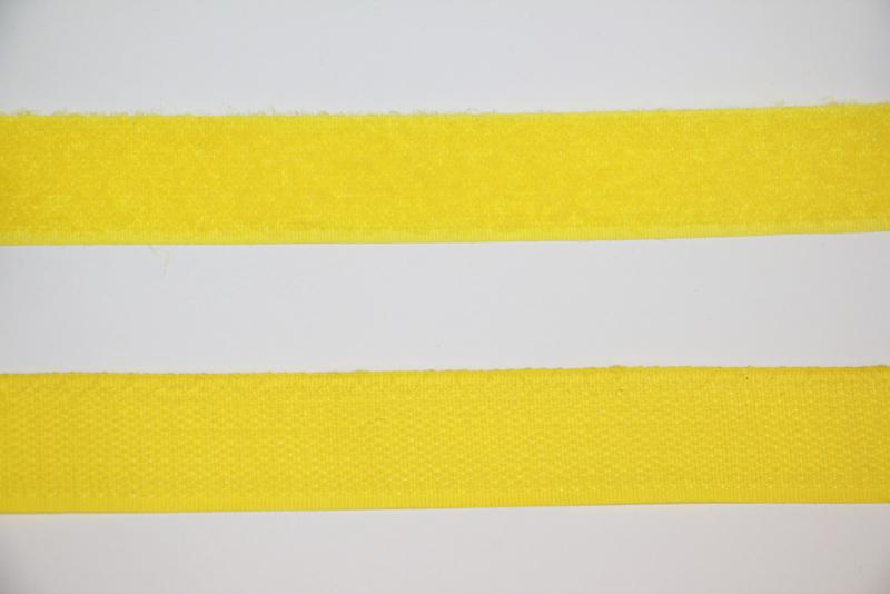Klittenband 25 mm geel per 0,5 meter