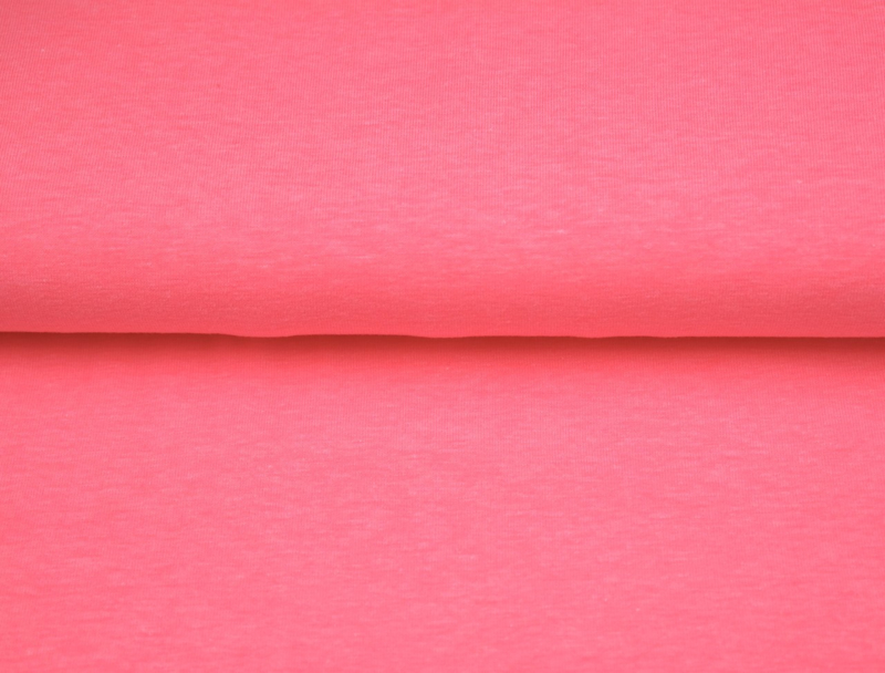 Neon roze boordstof. Rondgebreid 35 cm. Per 25 cm