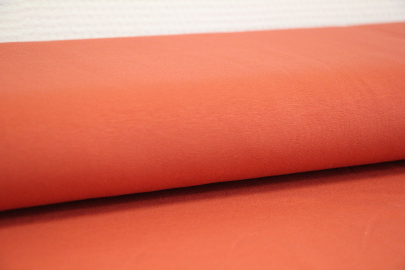 Tricot effen roestbruin per 25cm