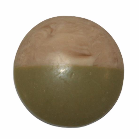 Cabochon hout-look dip mosgroen, 20 mm