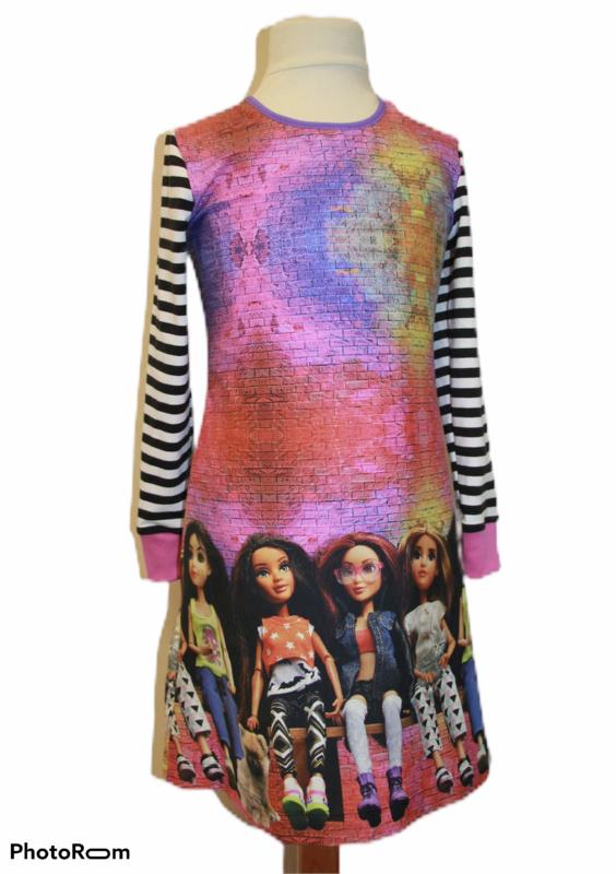 Meisjesjurk dolls maat 92-128