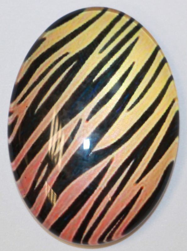 Glas flatback cabochon animal print 18 x 25 mm