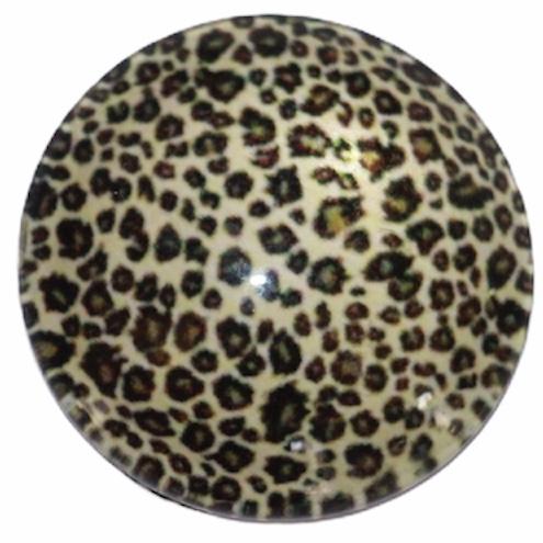 Glascabochon 20mm panter beige