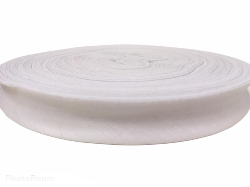 Biaisband katoen wit, per meter