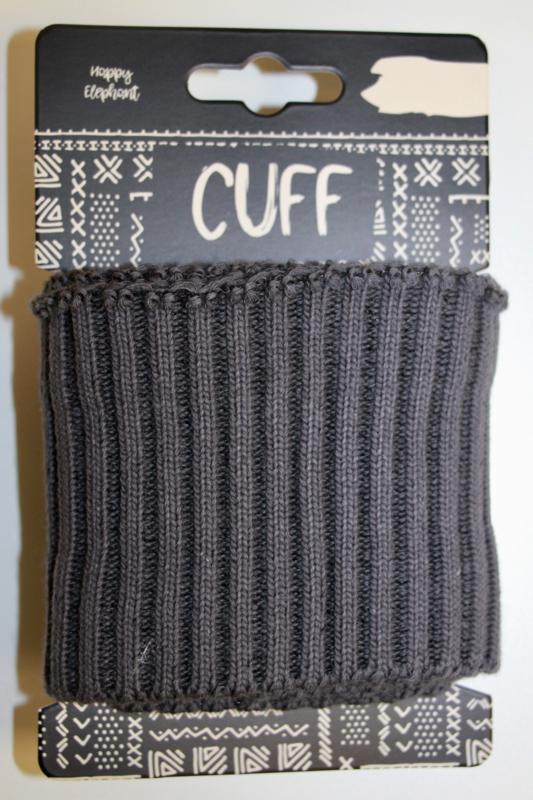 Cuff uni rib antraciet 7x110 cm