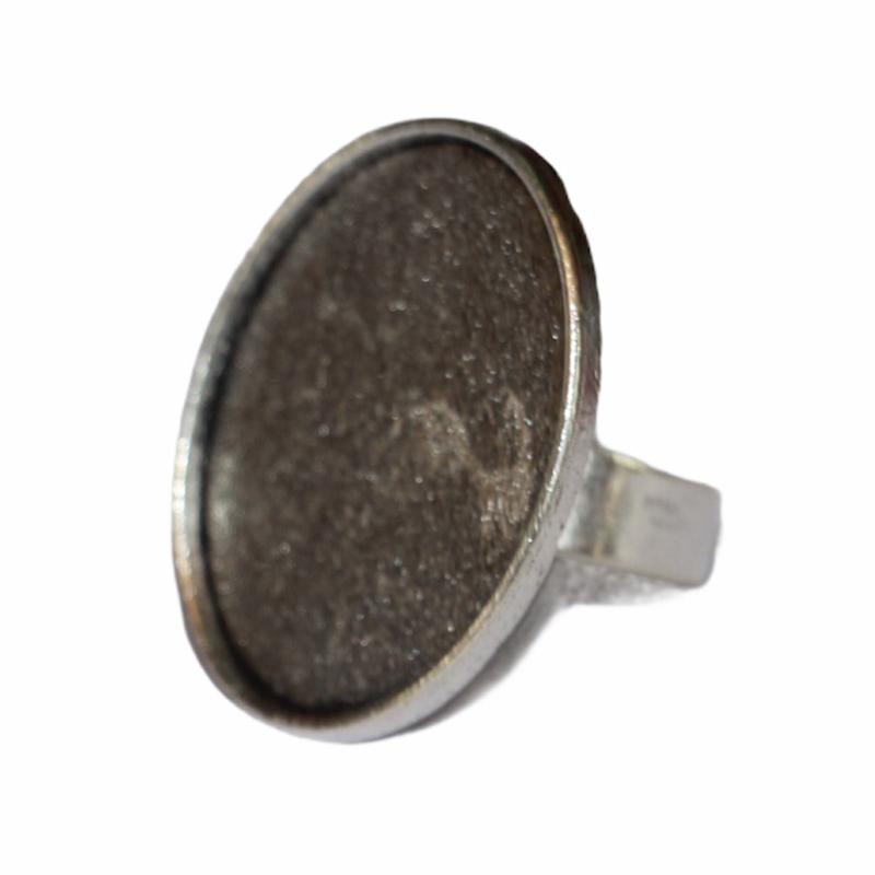 Ring 18mm verstelbaar oud-zilver kleur, setting 18x25 mm