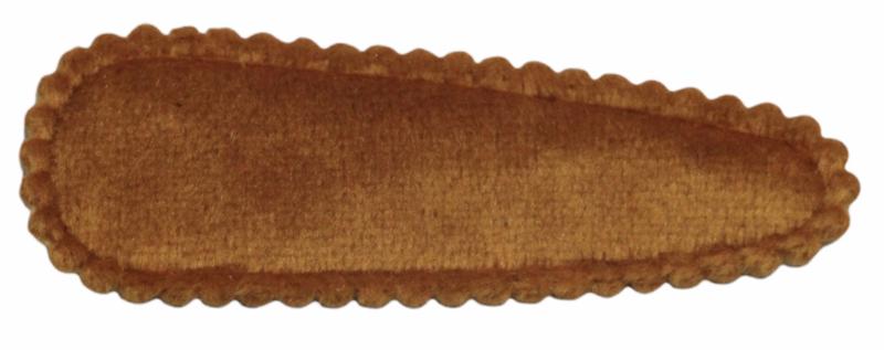 kniphoesje fluweel donker-okergeel 5 cm