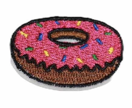 Donut applicatie  4 x 2,8 cm