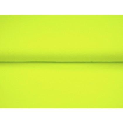Neon geel-groene boordstof. Rondgebreid 35 cm. Per 25 cm