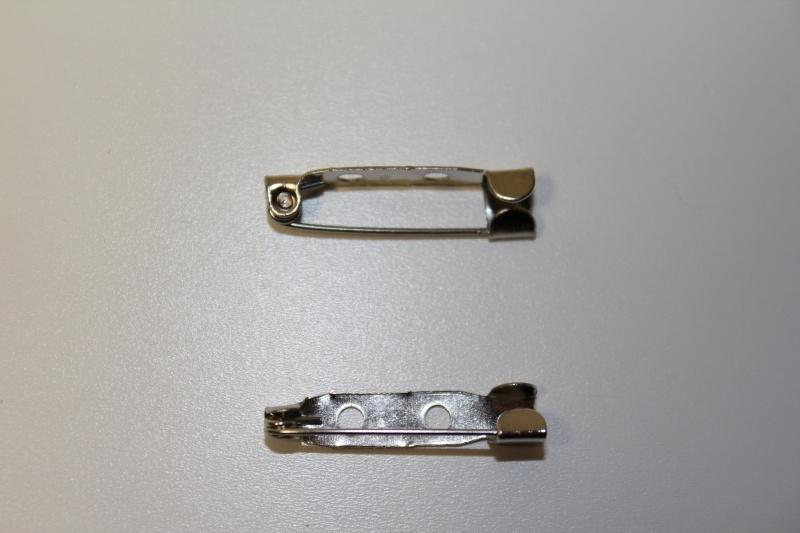 Brochespeld 25 mm, per stuk
