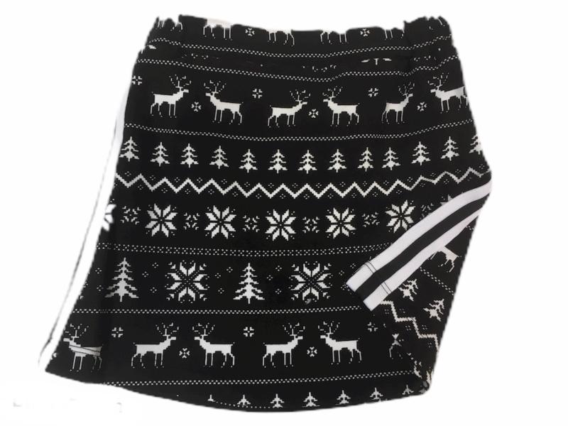 Rokje zwart wit kerst maat 80-152