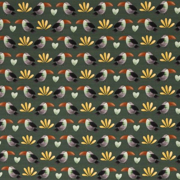 Tricot: Savana Friends donkergroen (Swafing) , per 25 cm