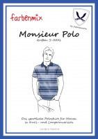Farbenmix naaipatroon heren Monsieur Polo maat S - XXXl