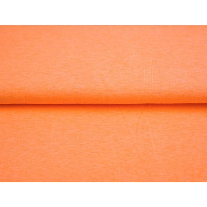 Neon oranje boordstof. Rondgebreid 35 cm. Per 25 cm