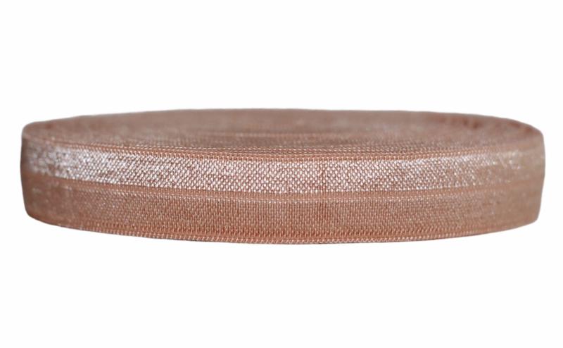 Elastisch biaisband huidskleur 16 mm per 0,5 meter
