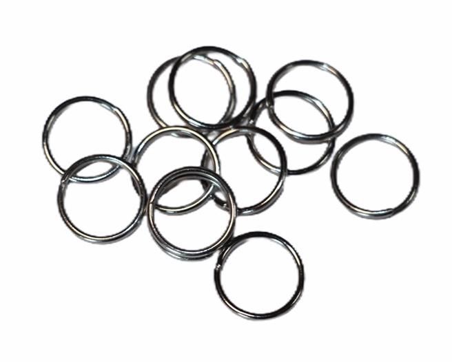 Ringetjes 10 mm met opening RVS, per 10 stuks