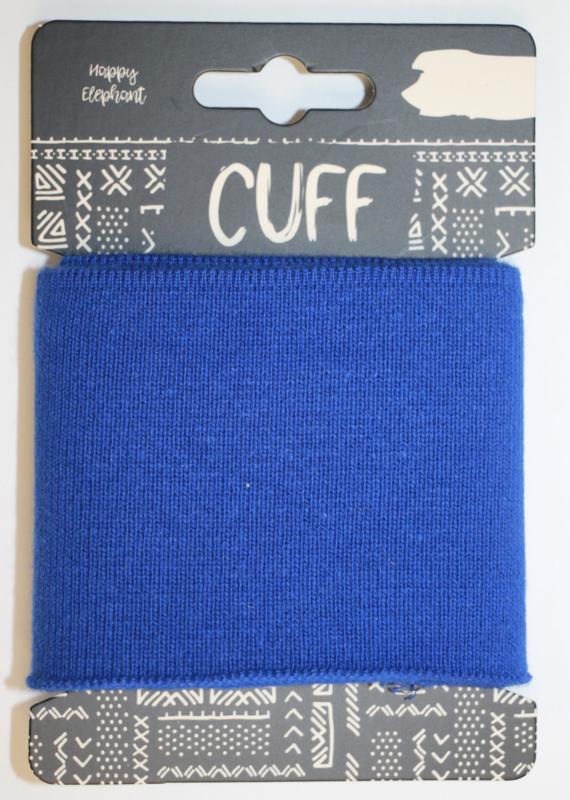 Cuff uni kobaltblauw 7x110 cm