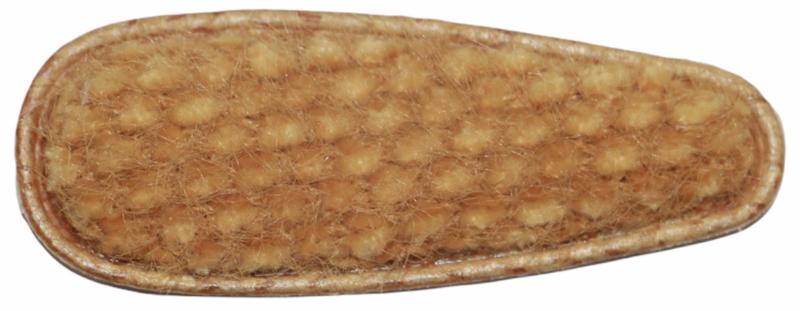 kniphoesje licht harig met wafeltje mosterdgeel 55 mm