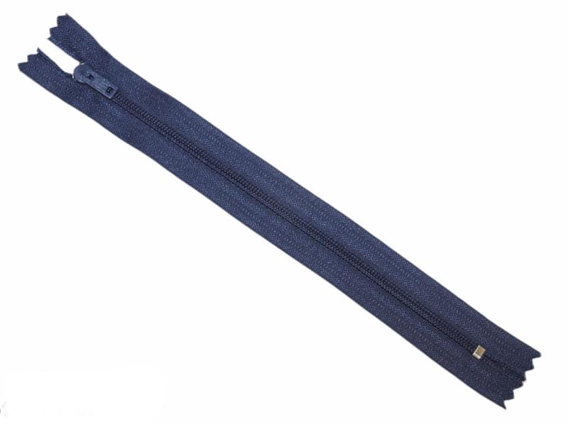 Nylon rits marineblauw niet deelbaar 18 cm