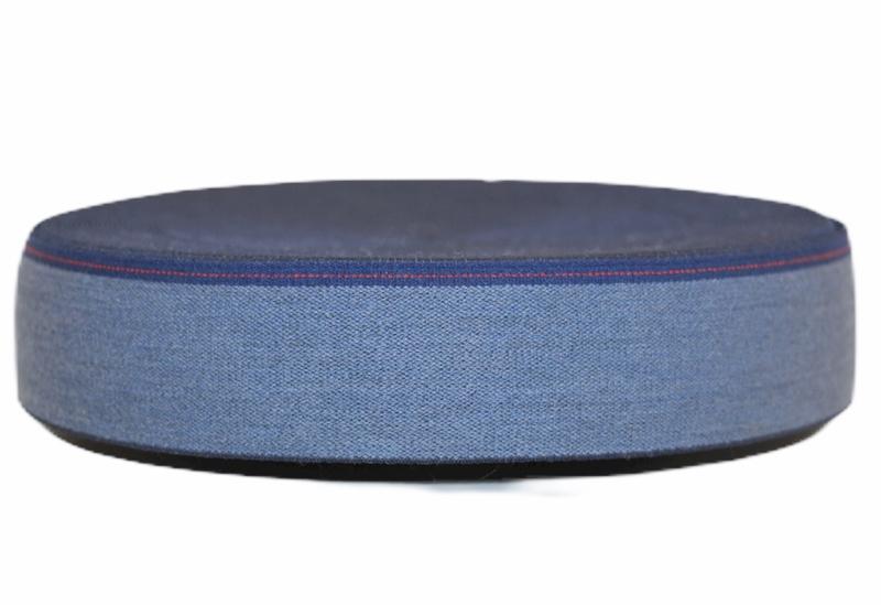 Jeanslook elastiek 40 mm per 0,5 meter