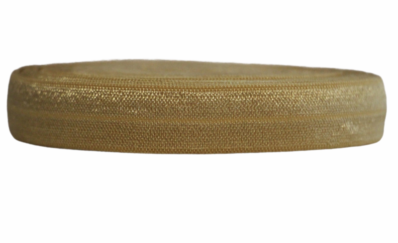 Elastisch band goudgeel 16 mm per 0,5 meter