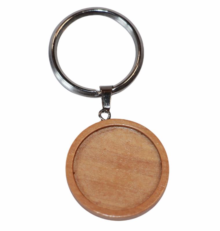 Sleutelhanger houten setting 25mm