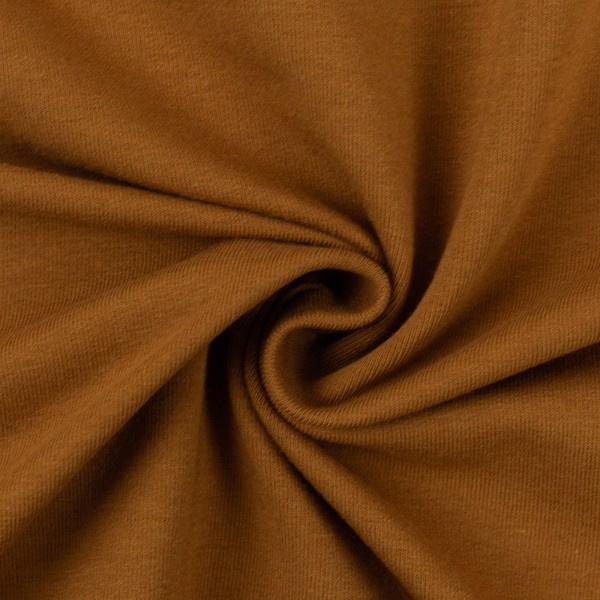 French terry tricot: effen goudbruin (Swafing kleur 175 herfst/winter 21/22 ) per 25 cm