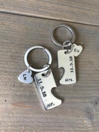 Sleutelhanger set Mr. & Mrs. - wedding