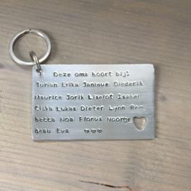 Tekst sleutelhanger XL