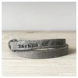 Tekst Armband | Leer