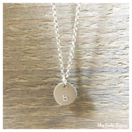Ketting Initial coin | .925 zilver