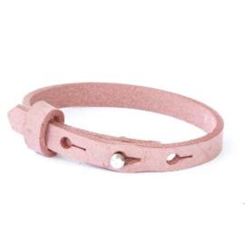 Moeder & Kids Tekst Armbanden   Misty Pink
