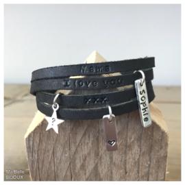 Mama armband - zwart