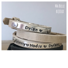 Moeder & Kids Tekst Armbanden | Country Grey
