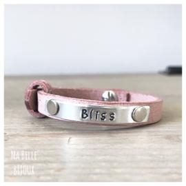 Moeder & Kids Tekst Armbanden | Misty Pink